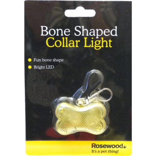Rosewood Bone Shaped Collar Light