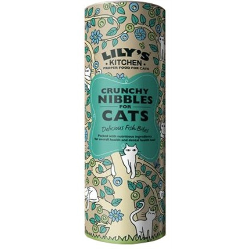 Lilys Kitchen Crunchy Nibbles Fish Complete Dry Food for Cats