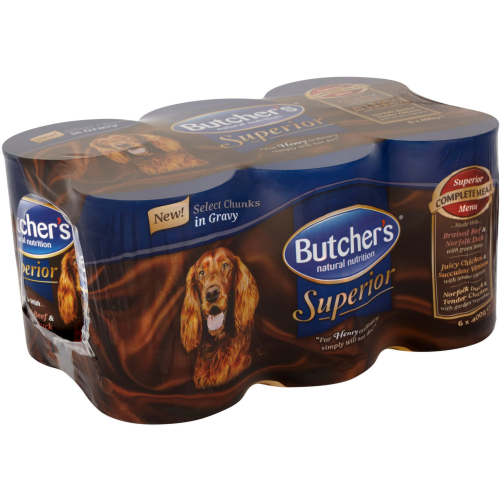 Butchers Superior Chunks in Gravy Dog Food 400g x 6