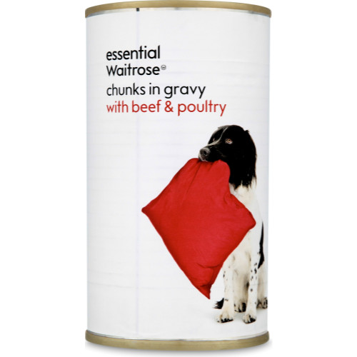 essential Waitrose Chunks in Gravy Beef & Poultry Adult Dog Food