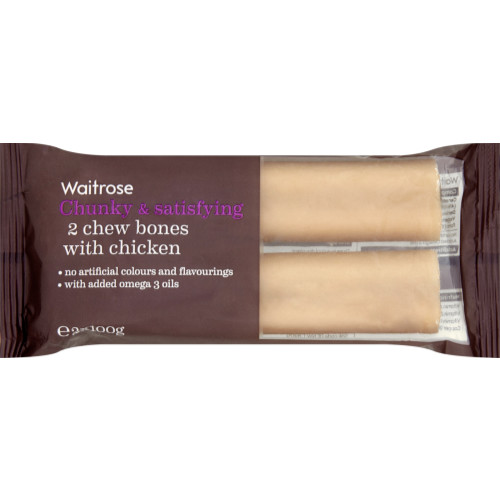 Waitrose Chew Bones with Chicken 2s Dog Treats
