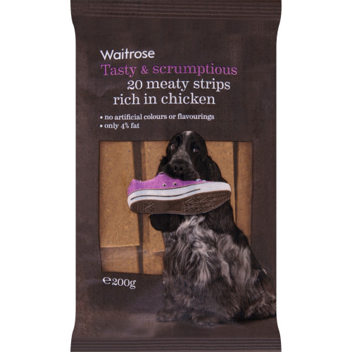 Waitrose Meaty Strips Chicken 20s Dog Treats