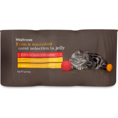 Waitrose Meat Selection In Jelly Cat Food