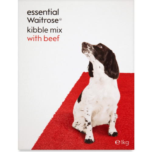 essential Waitrose Kibble Mix with Beef Adult Dog Food