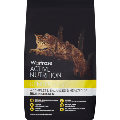 Waitrose Active Nutrition Chicken Senior Cat Food