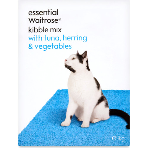 essential Waitrose Kibble Mix Tuna & Herring & Veg Cat Food