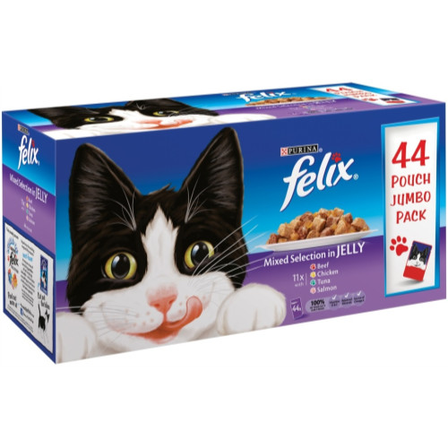 Felix Mixed Selection In Jelly Pouch Cat Food