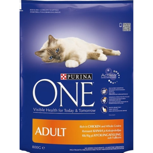 Purina ONE Chicken & Whole Grains Adult Cat Food