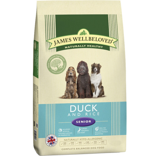 James Wellbeloved Duck & Rice Senior Dog Food