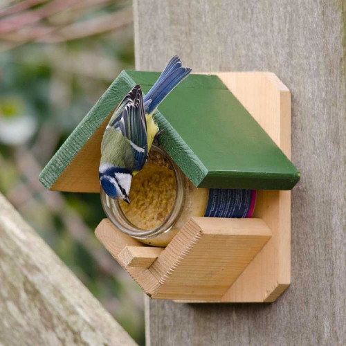 CJ Wildlife Wooden Peanut Butter Pot Feeder