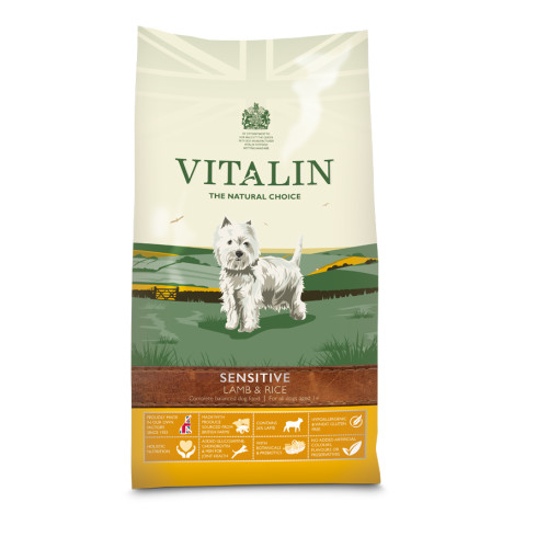 Vitalin Natural Sensitive Lamb & Rice Dog Food