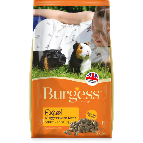 Burgess Excel Nuggets with Mint Guinea Pig Food