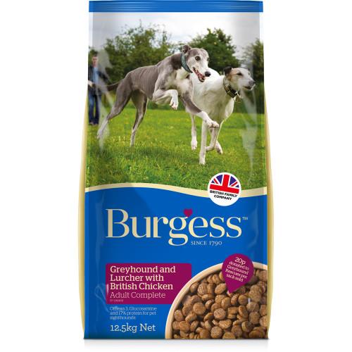 Burgess Chicken Greyhound & Lurcher Adult Dog Food 12.5kg