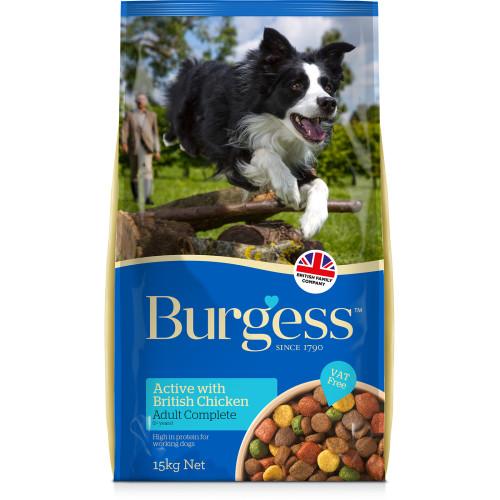 Burgess Complete Active Chicken & Beef Adult Dog Food 15kg