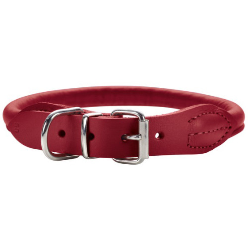 Hunter Round & Soft Elk Leather Luxury Dog Collar