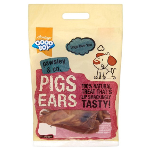 Good Boy Pawsley & Co Natural Pigs Ears Dog Treats