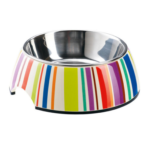 Hunter 2 in 1 Melamine Steel Stripes Bowl