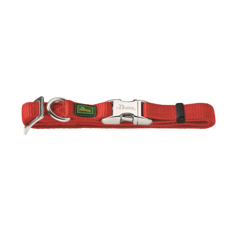 Hunter Vario Basic Alu-Strong Nylon Red Collar
