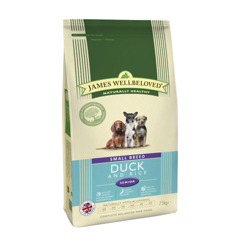 James Wellbeloved  Duck & Rice Small Breed Senior Dog Food