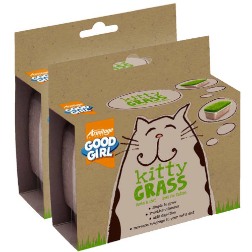 Armitage Cat Good Girl Kitty Grass x 2