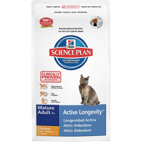 Hills Science Plan Feline Mature 7 Active Longevity Chicken 300g