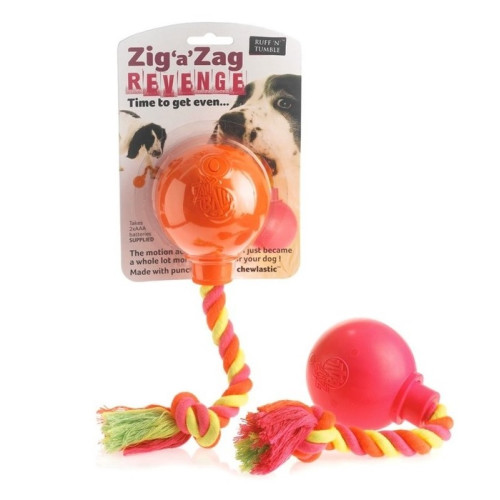 Zig a Zag Revenge Ball & Rope Dog Toy