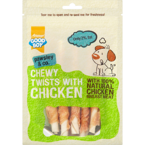 Good Boy Chewy Twists with Chicken Dog Treats