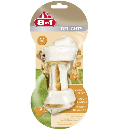 8in1 Delights Chicken Dog Bones Medium