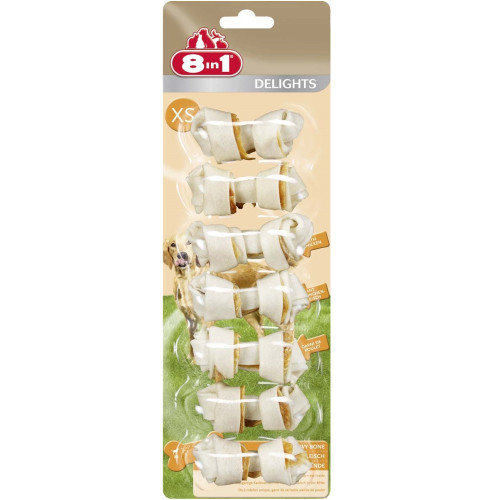 8in1 Delights Chicken Dog Bones X Small