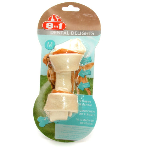 8in1 Dental Delights Chicken Dog Bones