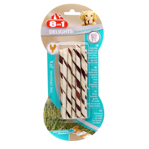 8in1 Dental Delights Twist Sticks for Dogs