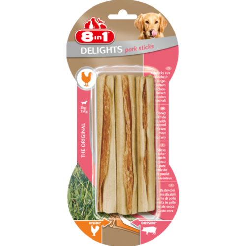 8in1 Delights Pork Sticks for Dogs