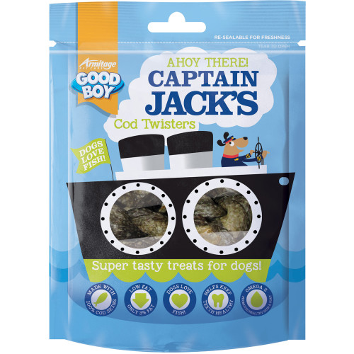Good Boy Captain Jacks Cod Twisters Dog Treats
