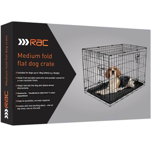 RAC Metal Fold Flat Crate with Plastic Tray