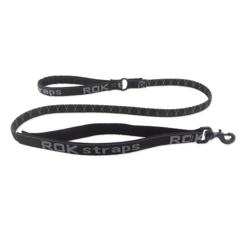 Rok Straps Reflective Black Dog Lead