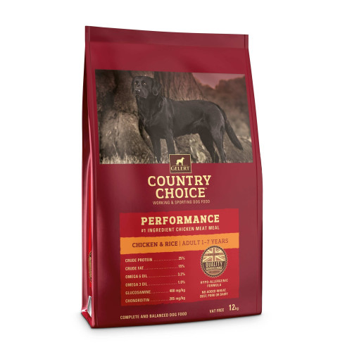 Gelert Country Choice Performance Chicken & Rice Adult Dog Food