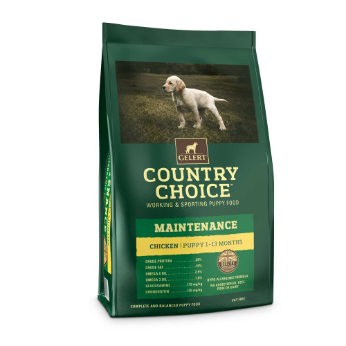 Gelert Country Choice Maintenance Chicken Puppy Food