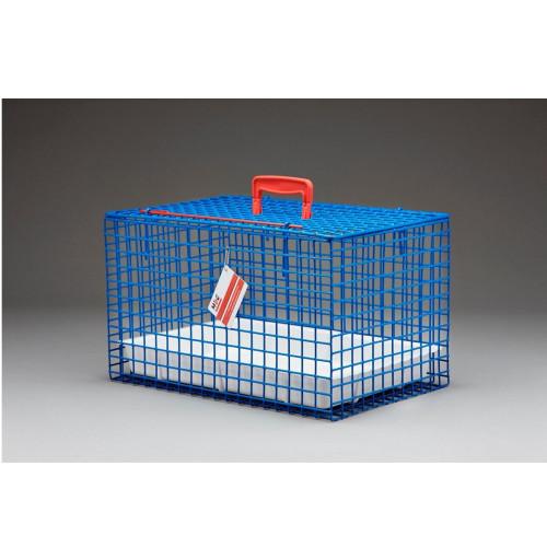Wire Cat Basket Cat Carrier Blue