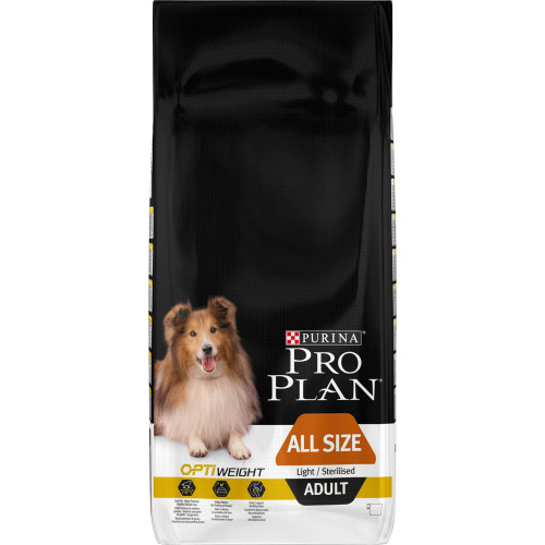PRO PLAN OPTIWEIGHT Light & Sterilised Chicken Adult Dog Food