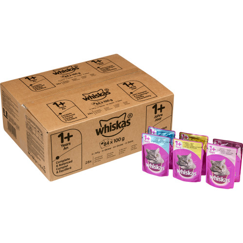 Whiskas Mixed Selection in Jelly Wet Adult Cat Food Pouch