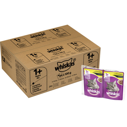 Whiskas Mixed Selection in Gravy Wet Adult Cat Food Pouch