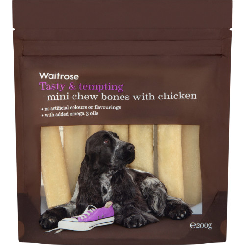 Waitrose Mini Chew Bones with Chicken Dog Treats