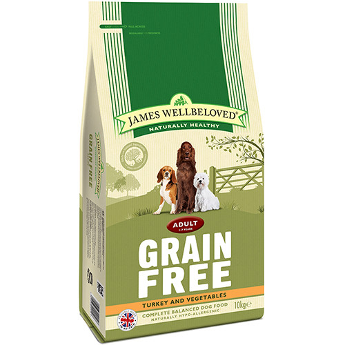 James Wellbeloved Grain Free Turkey & Vegetables Adult Dog Food