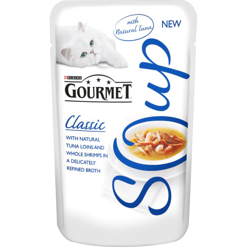 Gourmet Classic Soup Tuna & Shrimp Adult Cat Food
