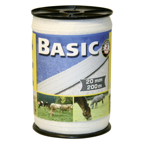 Corral Basic Fencing Tape White 200m x 20mm