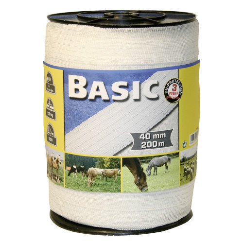 Corral Basic Fencing Tape White 200m x 40mm