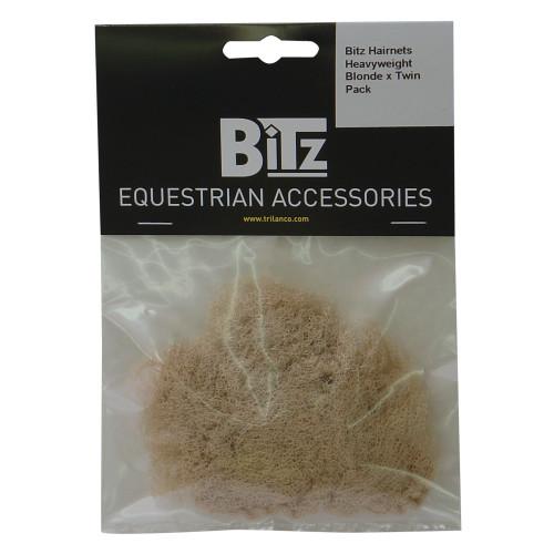 Bitz Hairnet Heavyweight Blonde Twin Pack
