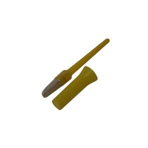 Bitz Hoof Oil Brush with Cap Yellow