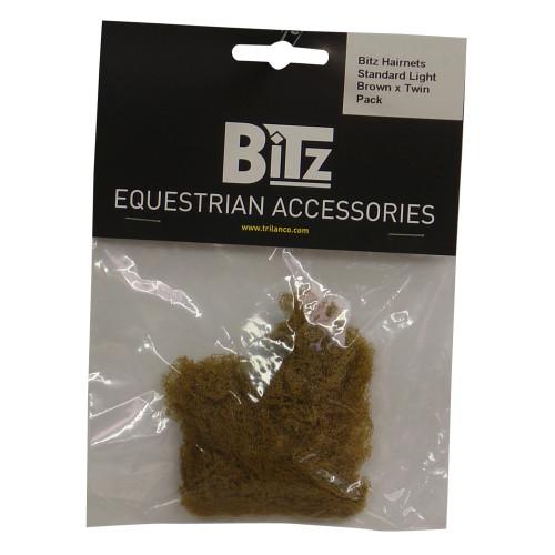 Bitz Hairnet Standard Light Brown Twin Pack