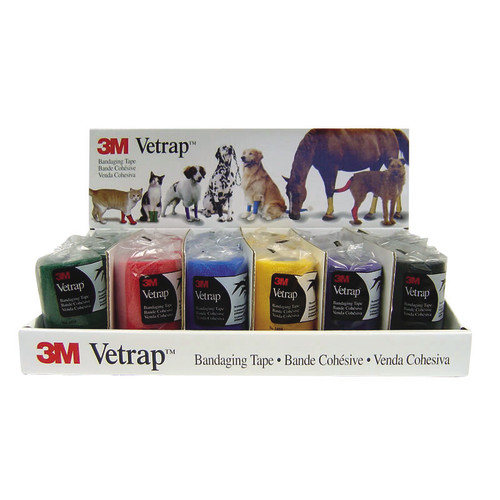 3M Vetrap Bandages Assorted Display 24 Pack 10cm